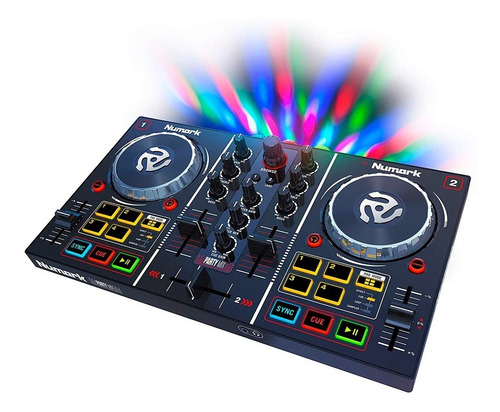 Numark Dj Party Mix Controlador Dj Consola Mixer Con Luces