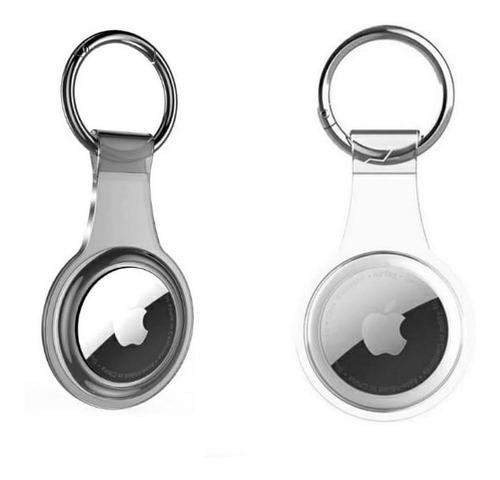 2 Capas Chaveiro Transparente Para Airtag Apple Mala, Bolsa
