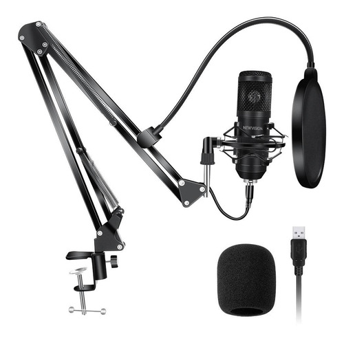 Kit Microfono Condenser Usb Profesional Estudio Streaming