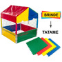 Piscina De Bolinhas 1,0x1,0 Colorido + Brinde Tatame Eva Original
