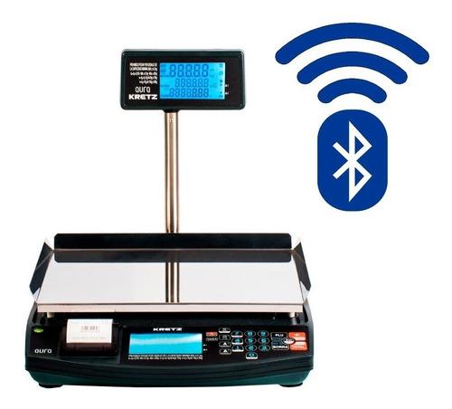 Balanza Kretz Aura Eco2 30kg Impresor De Ticket Bateria Bluetooth