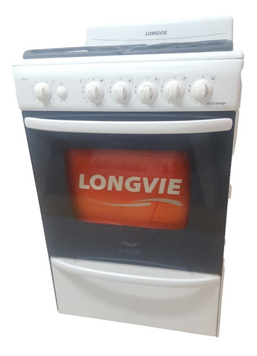 Cocina Longvie A Gas 4 Hornallas Blanca 18501b