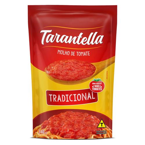 Molho De Tomate Tradicional Tarantella Sem Glúten Em Sachê 340 G