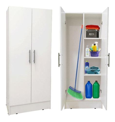 Escobero Despensero 2 Puertas 1,50 Organizador Wengue Blanco