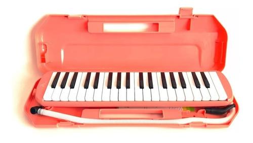 Flauta Armonica Melodica 37 Notas Boquilla Manguera Estuche