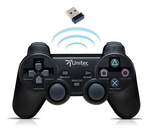 Control De Juegos Gamepad Inalámbrico Ps3 / Pc Con Vibración