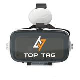 Óculos De Realidade Virtual 3d C/fone Top Tag Android/ios