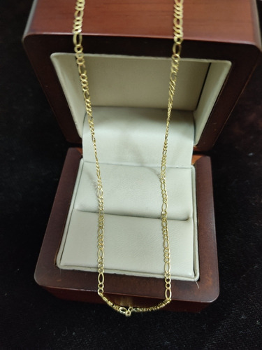 Cadena De Oro Amarillo Estilo Figaro 10k
