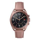 Samsung Galaxy Watch3 (lte) 1.2  Com Rede Móvel Caixa 41mm De  Aço Inoxidável  Mystic Bronze Pulseira  Pink De  Couro E O Arco  Mystic Bronze Sm-r855f