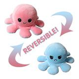 Peluche Pulpo Reversible Octopus Feliz Y Enojado