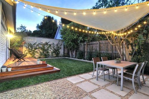Malla Sombra Vela Toldo 3,6 X 3,6mts Jardin - Ferrejido