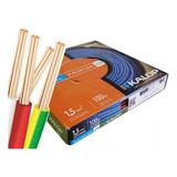 Pack X 2 Cable Unipolar Kalop Normalizado Iram 1.5mm Cat.5