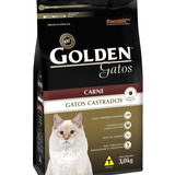Alimento Golden Premium Especial Castrados Para Gato Adulto Sabor Carne Em Saco De 3kg
