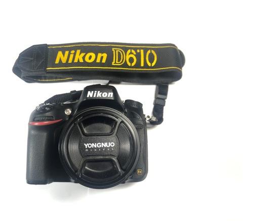 Cámara Nikon D610 + Lente Yongnuo 50mm 1.8