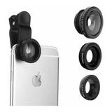 Lente Ojo De Pez 3 En 1 Clip Universal Fotos Selfie Celular