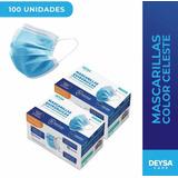Dos Cajas (100 Unidades) Mascarillas Desechables Quirurgicas