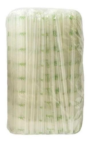 Popote Biodegradable 25 Cms Estuchado Uralva C/2000 Piezas