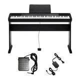 Piano Digital Casio Cdp-135 Bk+estante Cs-44+pedal Sustain
