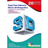 Papel Foto Adhesivo Efecto 3d Holografico A4/ 130g/ 20 Hojas