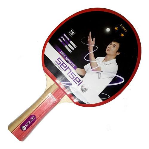 Paleta Ping Pong Tenis Mesa Sensei 2 Estrellas Loc. No.1 Arg
