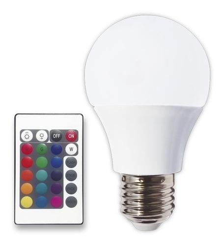 Lampara Led Bulbo A60 Rgb Tbcin E27 3w Colores Control Dist.