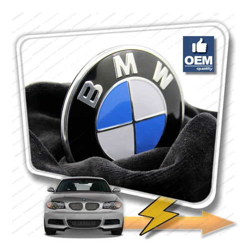 Insignia  Emblem Bmw.style Capot Baul 72mm 82mm Tuningchrome BMW M5