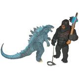 Godzilla Vs King Kong Con Sonido 30 Cm Alto Articulados Azul