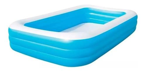 Pileta Inflable Rectangular Azul Familiar Bestway 305x183x56