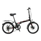Bicicleta Plegable Fire Bird   R20 6v Frenos V-brakes Cambio Shimano Color Negro