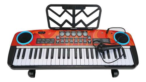 Gran Teclado 49 Teclas Organeta Piano Pistas Infantil Mnr
