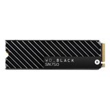 Disco Sólido Interno Western Digital Wd Black Sn750 Wds100t3xhc 1tb Negro