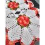 Caminho De Mesa Croche Barbante Cru E Barroco Multicolor Original