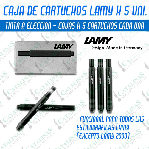 Cartuchos Lamy  T 10 Caja X5 Unid. Coloreleccion Microcentro
