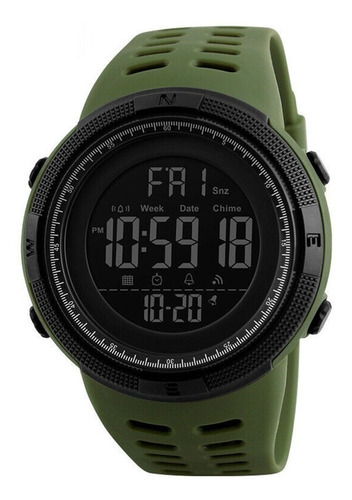 Reloj Digital Skmei 1251 Deportivo Digital Verde Y Regalo