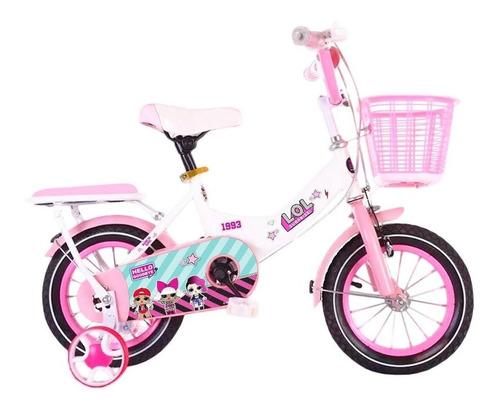 Bicicleta Lol Rod 14 C/ Canasto + Rueditas Armada - El Rey