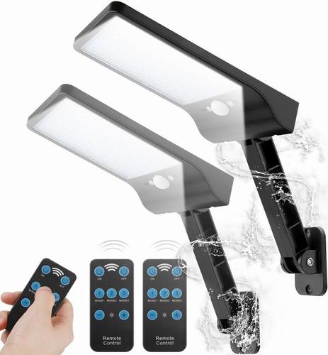 2pack Luces Solares Al Aire Libre,48leds Con Control Remoto
