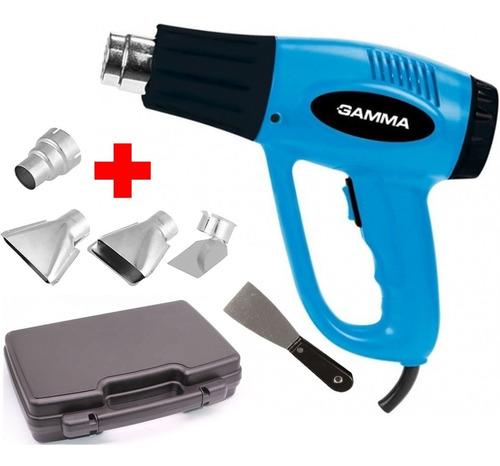 Pistola De Calor Gamma 2000w Con Maletin Accesorios En Kit