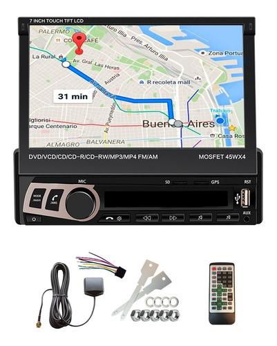 Stereo Pantalla Rebatible 7 Pulgadas Tactil  Gps  Bluetooth