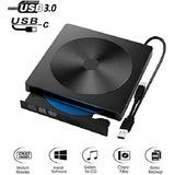 Unidad Externa De Cd Dvd, Grabadora Usb C Tipo C Usb 3.0 (ne