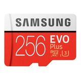Tarjeta De Memoria Samsung Mb-mc256ga/apc  Evo Plus Con Adaptador Sd 256gb