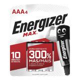 Blister 4 Pila Alcalinas Energizer Max Aaa Mayorista Oficial