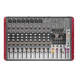 Proco Cr1208 Power Mixer Consola Audio Potenciada Bt Usb 12