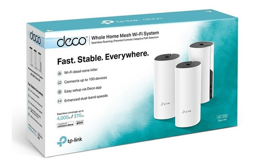 Access Point Tp-link Deco M4 Ac1200 Dual Band (3 Unidades)