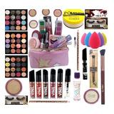 Kit De Maquiagem Embalado Pra Presente E Necessaire Brinde