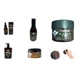 Kit Aceite Barba Shampoo Balsamo Gel Cepillo Locion After