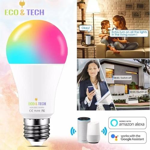Bombilla Wifi Led Inteligente 15w Alexa /google Home /ios...