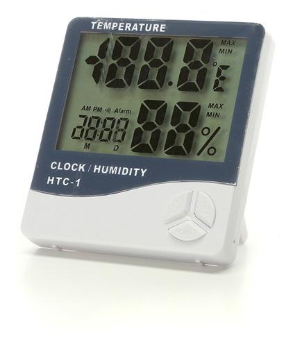 Medidor Higrometro Digital Termometro Humedad Interior Reloj