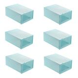 Pack 6 Caja Para Zapatos Organizador Armarble Apilable