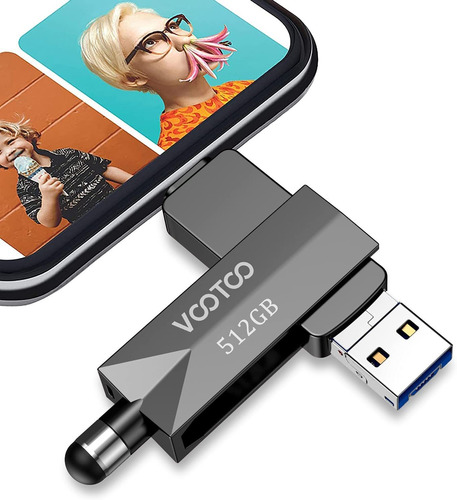Unidad Flash Vootoo Thumb Photo Stick, 512 Gb