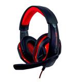 Headset Gamer Knup Kp-396 Preto E Vermelho